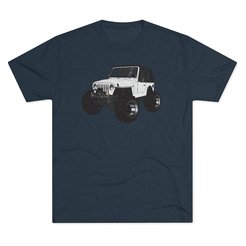 Jeepers Men's Tri-Blend Crew Tee